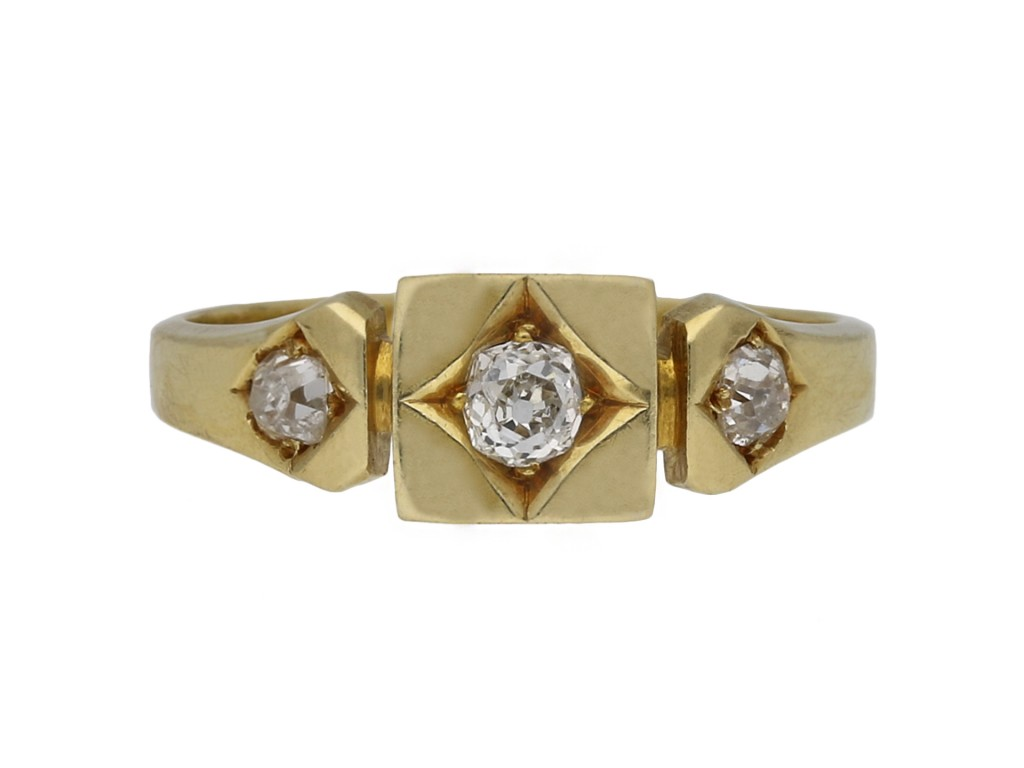 Victorian diamond three stone ring berganza hatton garden