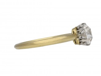 Edwardian old mine cut diamond ring berganza hatton garden