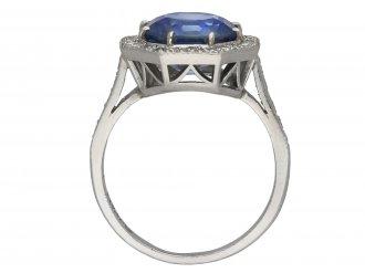 Ceylon sapphire and diamond ring berganza hatton garden