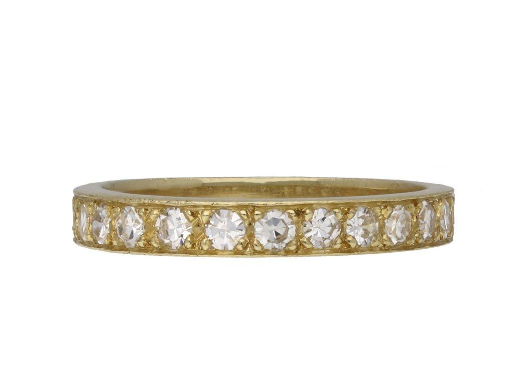 Vintage diamond half eternity ring berganza hatton garden