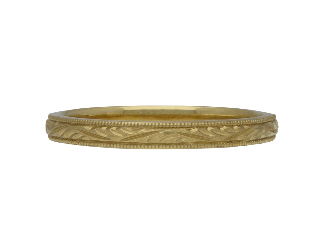 Victorian engraved wedding band berganza hatton garden