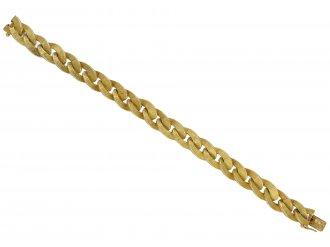 Hermes gold textured bracelet berganza hatton garden