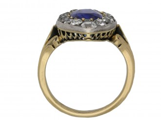 Victorian Ceylon sapphire and diamond ring berganza hatton garden