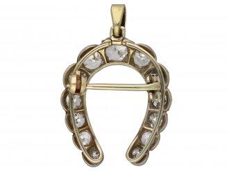Antique diamond horseshoe pendant/brooch berganza hatton garden