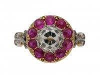 Burmese ruby coronet cluster ring berganza hatton garden