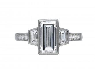 Diamond flanked solitaire ring berganza hatton garden