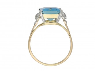 Edwardian aquamarine and diamond ring hatton gardenEdwardian aquamarine and diamond ring hatton garden