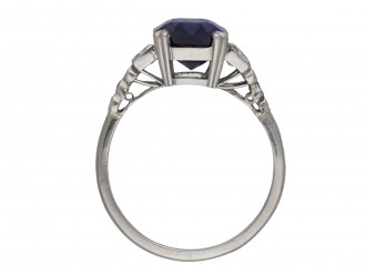 Art Deco Ceylon sapphire diamond ring berganza hatton garden
