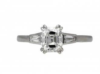 Art Deco old mine diamond solitaire ring hatton garden berganza