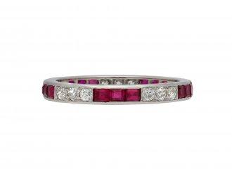 Art Deco ruby diamond full eternity ring berganza hatton garden