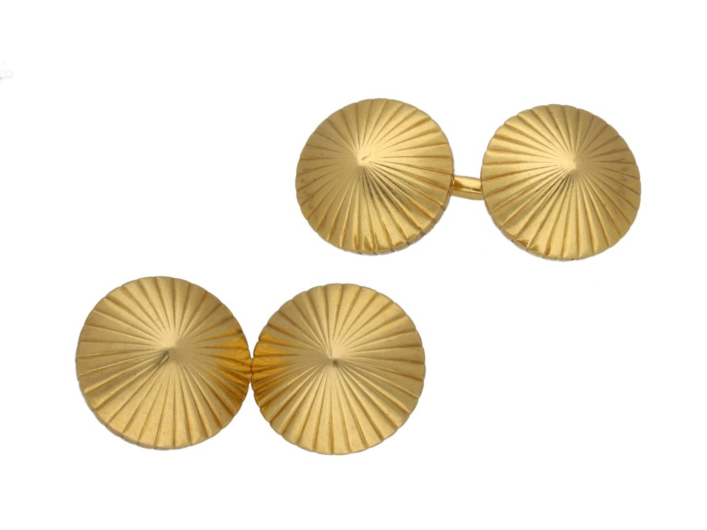 Cartier conical gold cufflinks berganza hatton garden