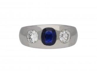 Sapphire and diamond gypsy ring berganza hatton garden