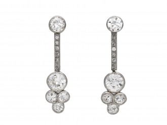 Edwardian diamond drop earrings berganza hatton garden