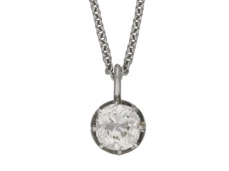 Antique old mine diamond pendant berganza hatton garden