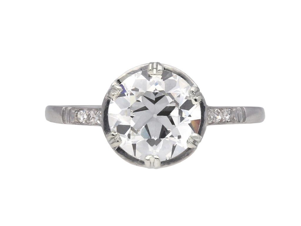 Diamond solitaire engagement ring berganza hatton garden