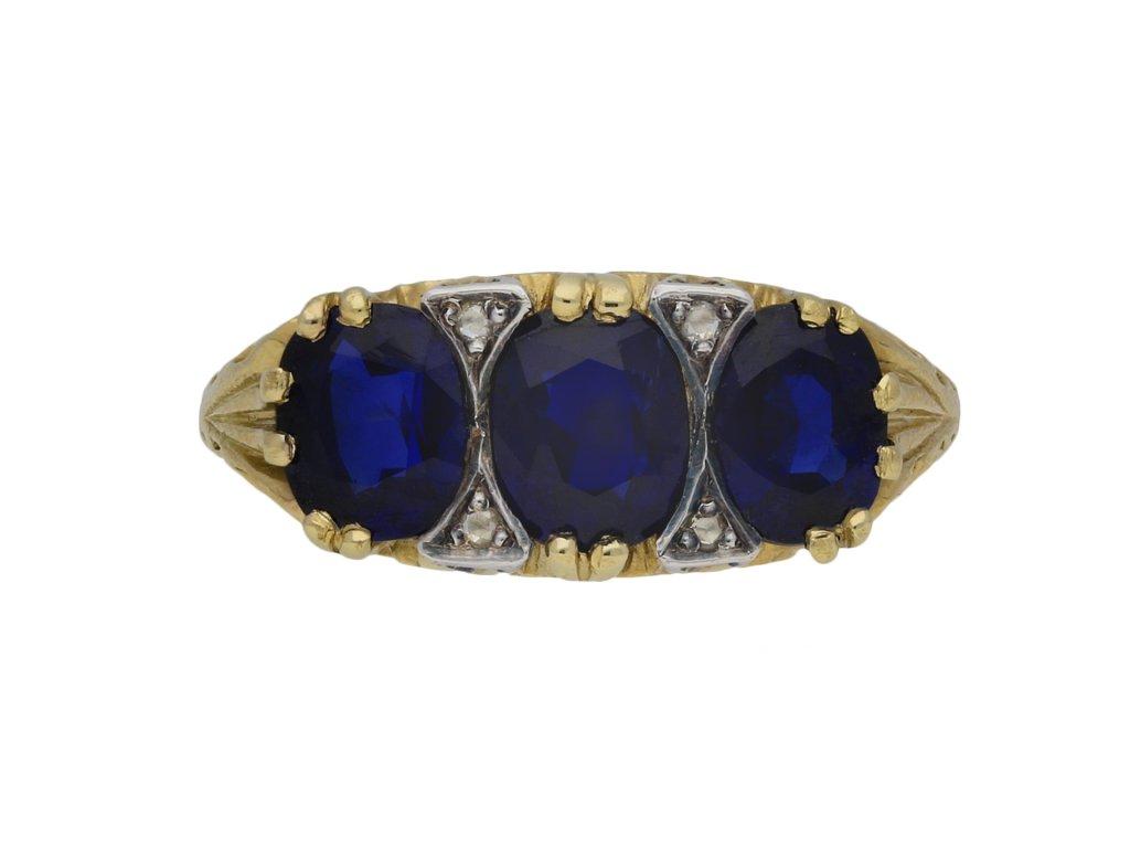 Victorian Burmese sapphire ring berganza hatton garden
