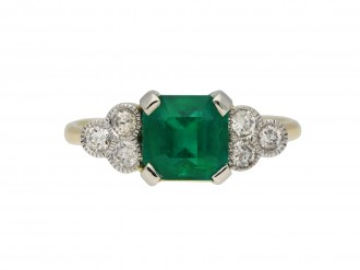 Colombian emerald and diamond ring berganza hatton garden