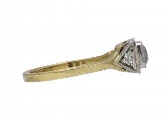 Art Deco flanked solitaire diamond ring berganza hatton garden