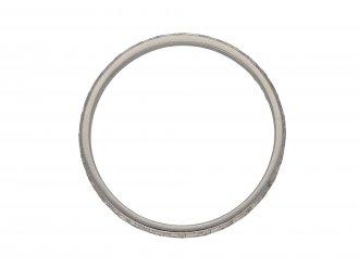 Engraved platinum wedding ring hatton garden berganza
