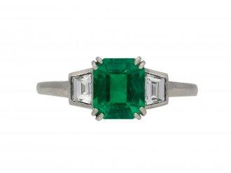 Art Deco Colombian emerald diamond ring hatton garden berganza