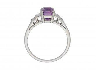 purple Ceylon sapphire diamond ring berganza hatton garden