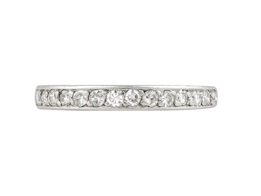 Edwardian diamond half eternity ring berganza hatton garden