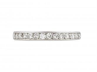 Edwardian diamond half eternity ring, circa 1910.