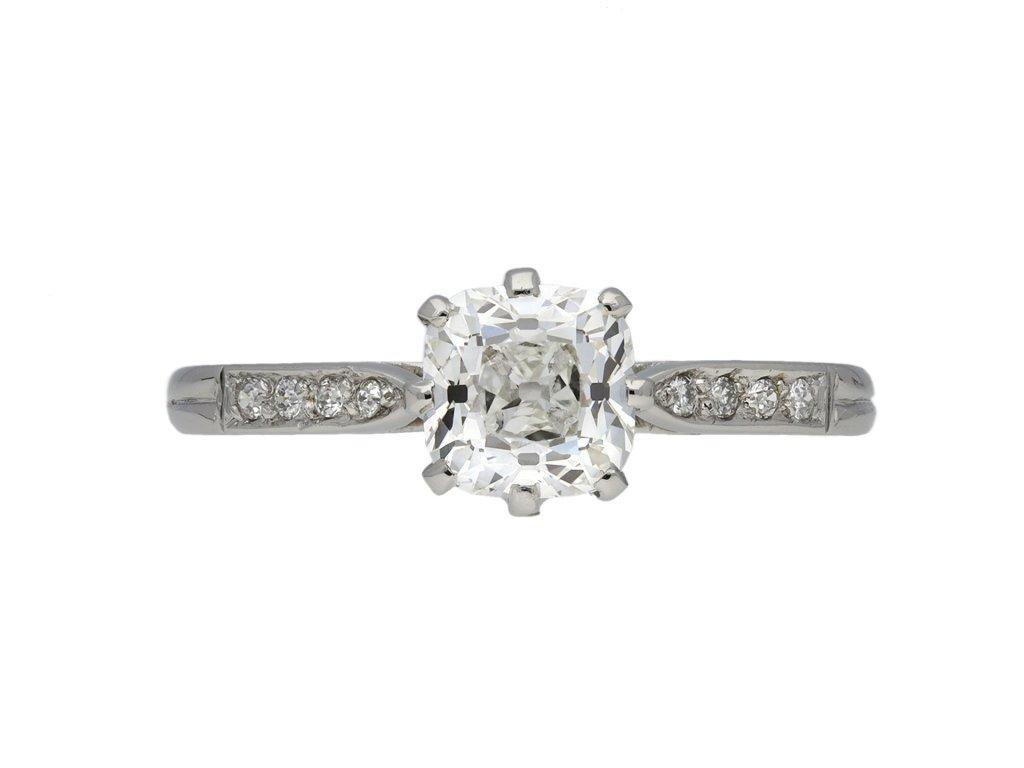 Old mine diamond solitaire ring berganza hatton garden