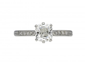 Old mine diamond solitaire ring berganza hatton garden