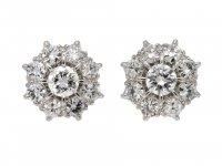 Old cut diamond cluster earrings berganza hatton garden