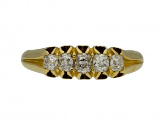 Victorian diamond five stone ring berganza hatton garden