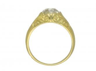 Old mine diamond carved solitaire ring hatton garden berganza