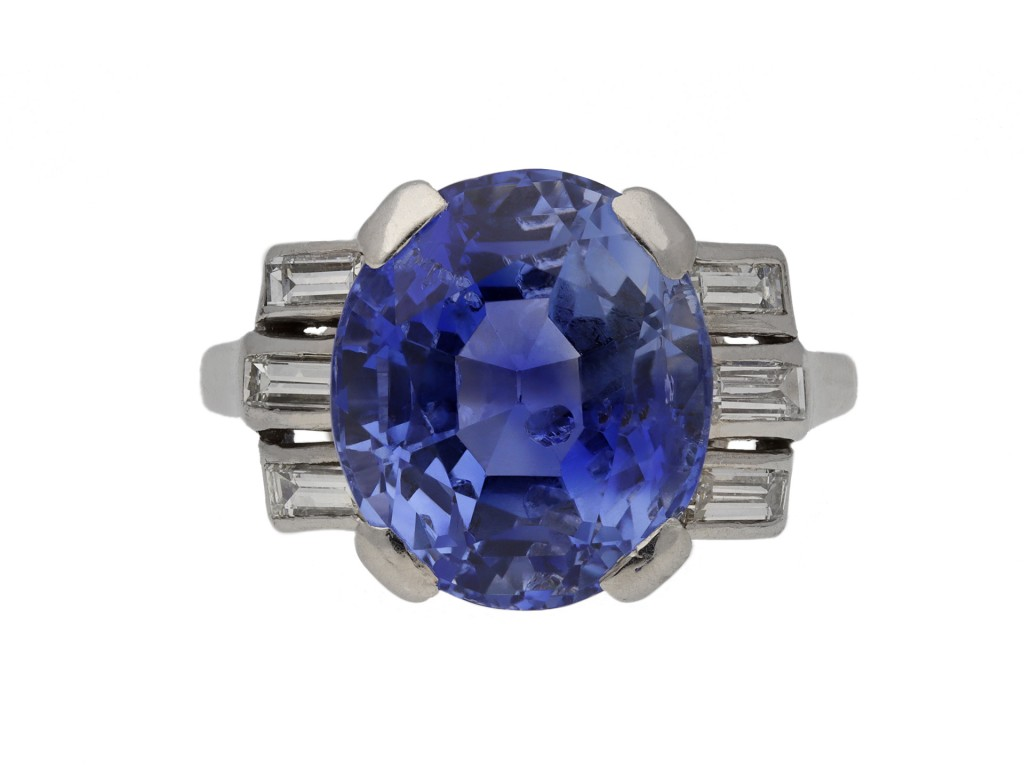 Ceylon sapphire and diamond ring berganza hatton garden