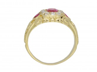 Victorian Burmiese ruby diamond ring berganza hatton garden