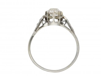 Antique diamond flanked solitaire ring berganza hatton garden