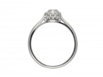 Antique diamond solitaire ring berganza hatton garden
