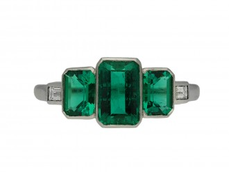 Art Deco Colombian emerald ring berganza hatton garden