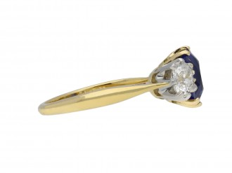 Ceylon Sapphire diamond three stone ring berganza hatton garden