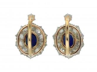 Edwardian sapphire diamond cluster earring hatton garden berganza