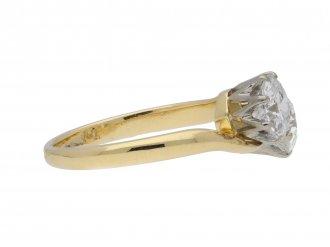 Edwardian two stone diamond crossover ring berganza hatton garden