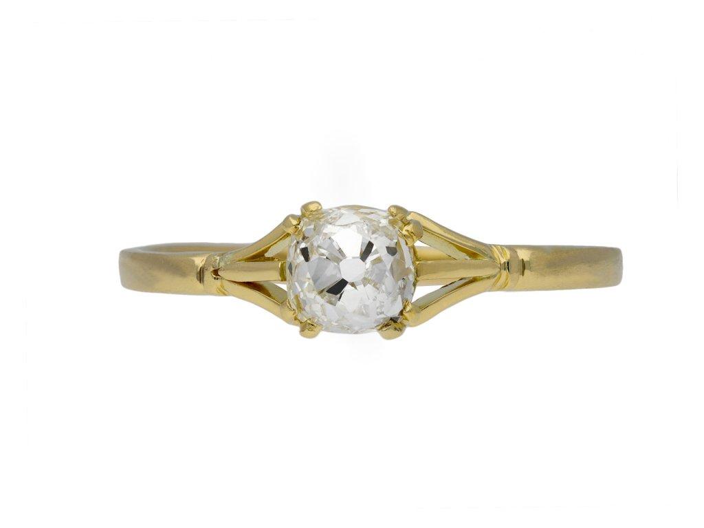 Victorian diamond solitaire ring berganza hatton garden