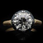 Victorian diamond solitaire ring, English, circa 1860.