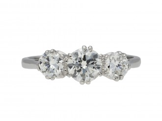 Edwardian diamond three stone ring hatton garden