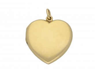 Victorian heart shape locket berganza hatton garden