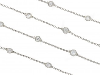 Edwardian diamond long chain necklace berganza hatton garden