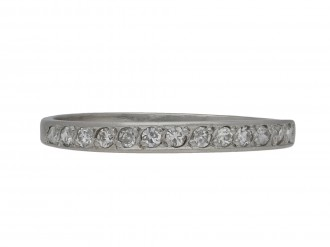 Diamond half eternity ring berganza hatton garden