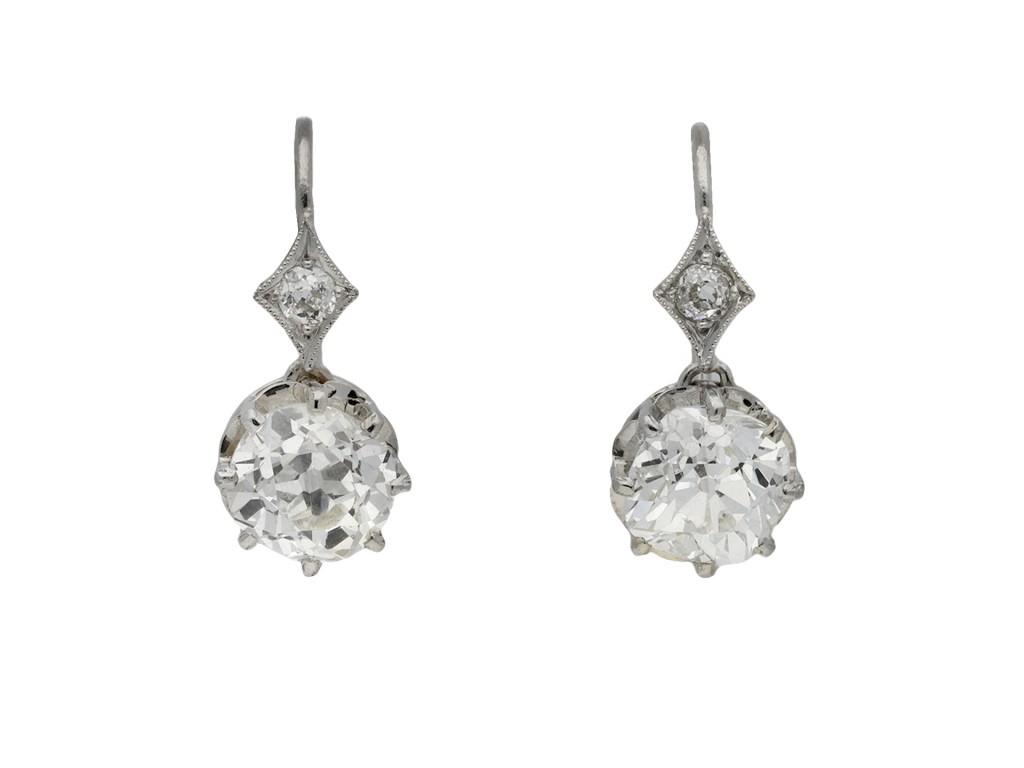 Old mine diamond drop earrings berganza hatton garden