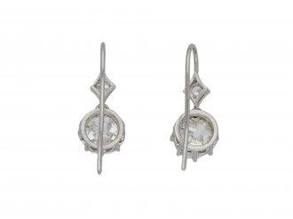 Old mine diamond drop earrings berganza hatton garden
