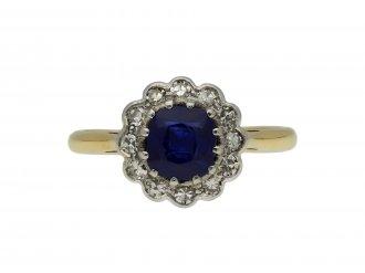 Burmese sapphire diamond coronet cluster hatton garden berganza