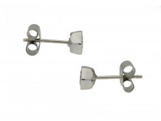 Vintage hexagonal diamond stud earrings berganza hatton garden
